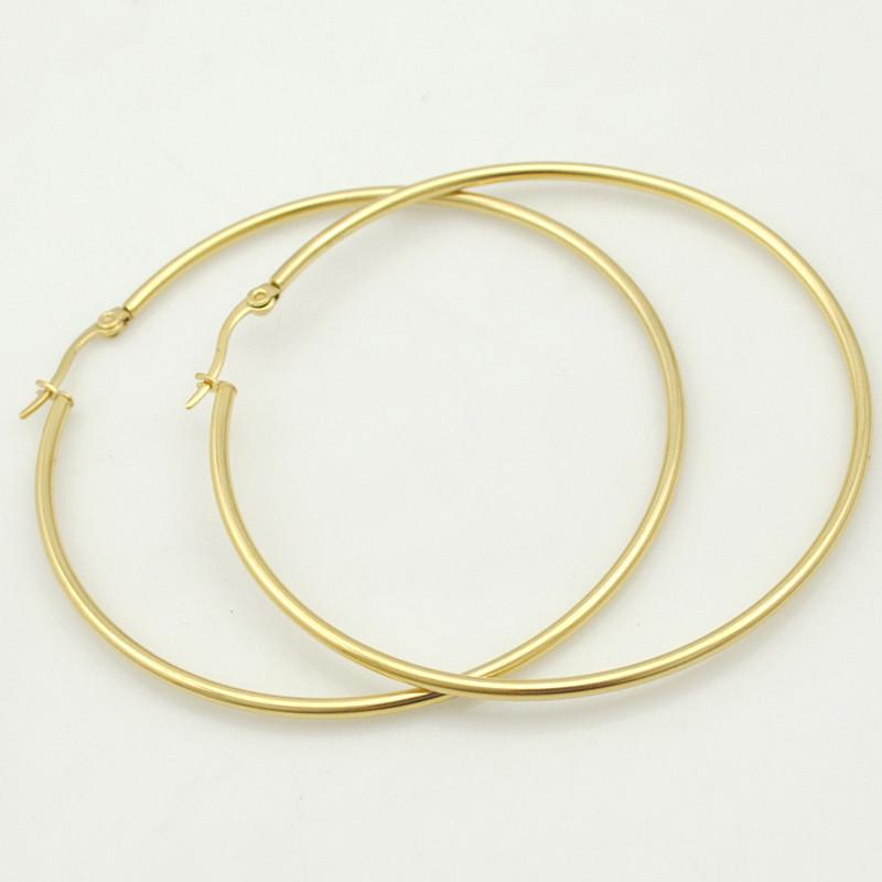 Meagan Stainless Steel Hoop Earrings-Hoop Earrings-Kirijewels.com-silver color 20mm-Kirijewels.com