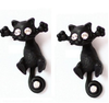 Free Cat Stud Earrings-earrings-Kirijewels.com-Black-Kirijewels.com