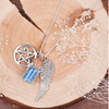 Free Silver Plated Bottle Guardian Angel Wing Necklace-Pendant Necklaces-Kirijewels.com-Kirijewels.com