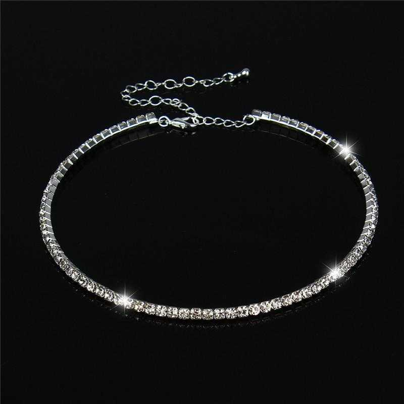 Free Crystal Wedding Birthday Necklace-Necklace-Kirijewels.com-1 Row-Kirijewels.com