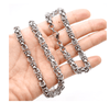 Byzantine Stainless Steel Link Chain Necklace