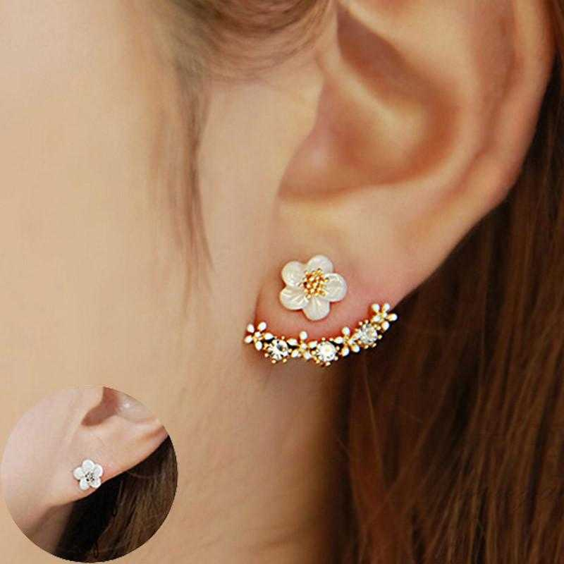 Flower Crystal Stud Earrings-Stud Earrings-Kirijewels.com-Rose gold-Kirijewels.com