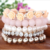 Free Multi Layer Beads Bracelet-Bracelet-Kirijewels.com-18K Gold Plated-Kirijewels.com