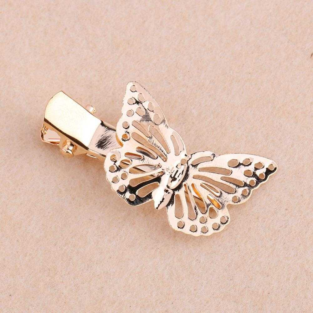 Free Golden Butterfly Hair Clip-Hair Accessories-Kirijewels.com-Kirijewels.com