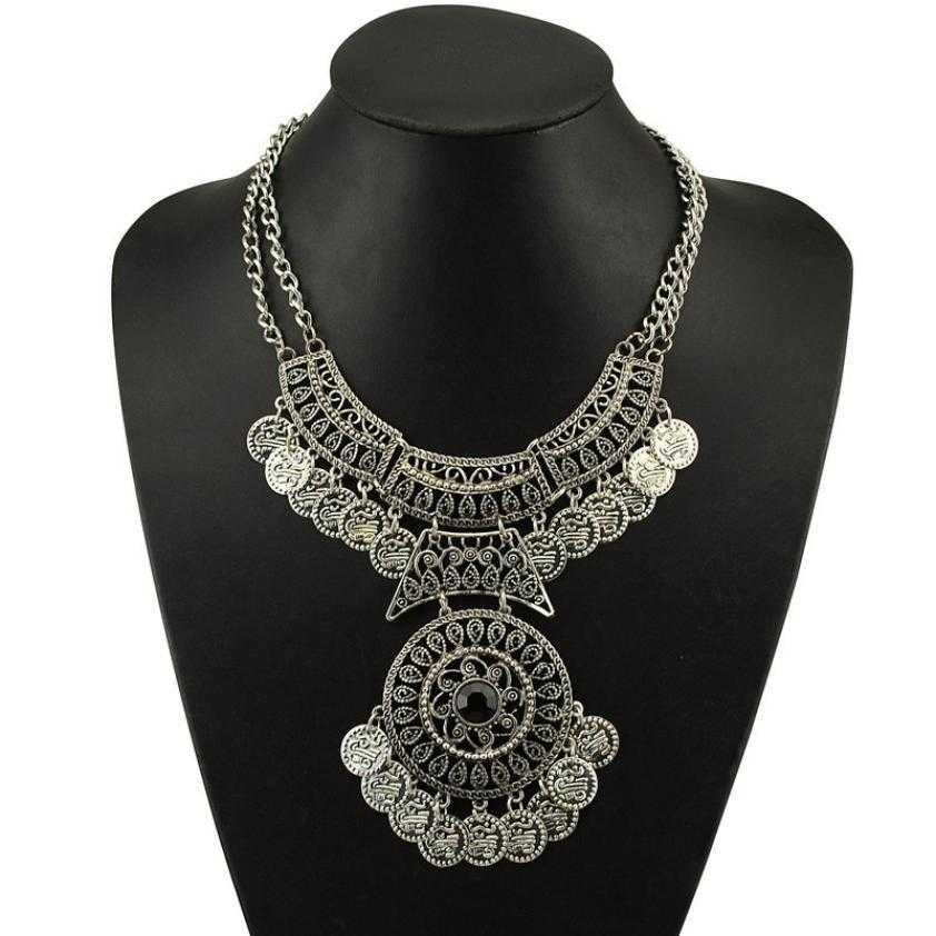 Free Double Chain Coin Necklace-Necklace-Kirijewels.com-Silver-Kirijewels.com