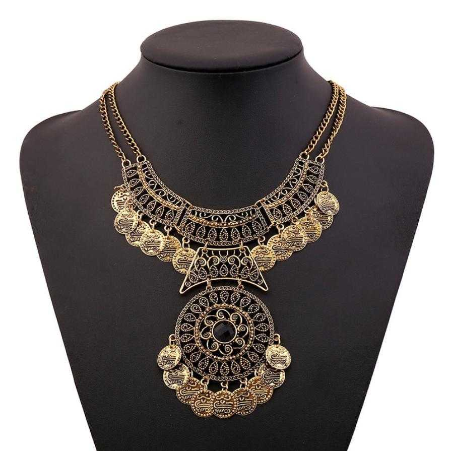 Double Chain Coin Necklace-Necklace-Kirijewels.com-Gold-Kirijewels.com