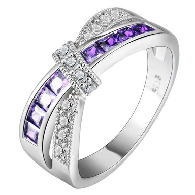 Cross Amethyst Wedding Ring-Ring-Kirijewels.com-6-purple silver-Kirijewels.com