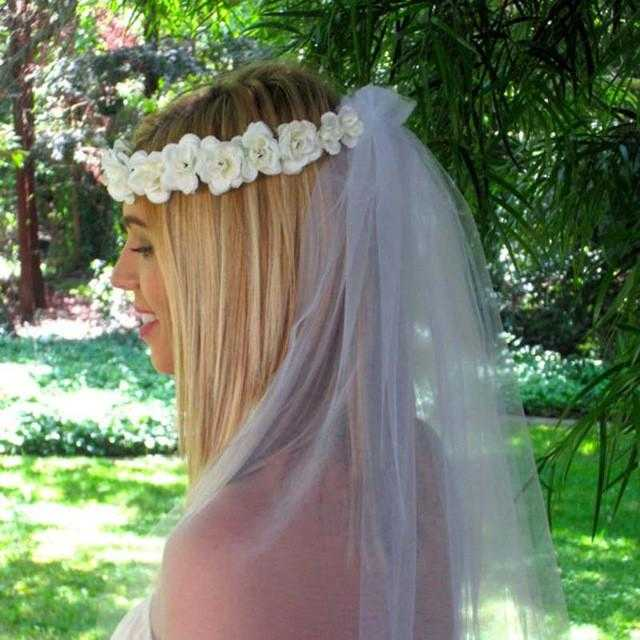 Free Handmade Flower Crown Wedding Wreath Bridal Headband-Hair Accessories-Kirijewels.com-White-Kirijewels.com