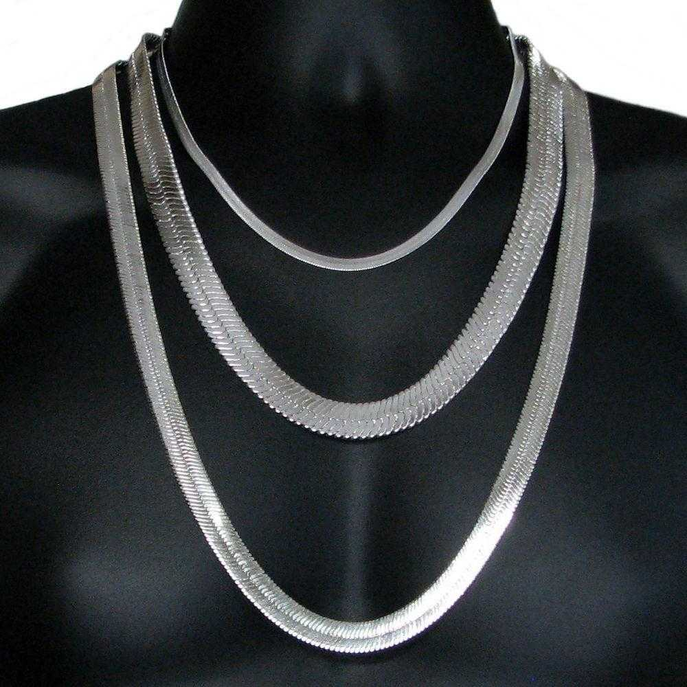 Cupro Sterling Silver Chain Necklace-Necklace-Kirijewels.com-16inch-silver-Kirijewels.com