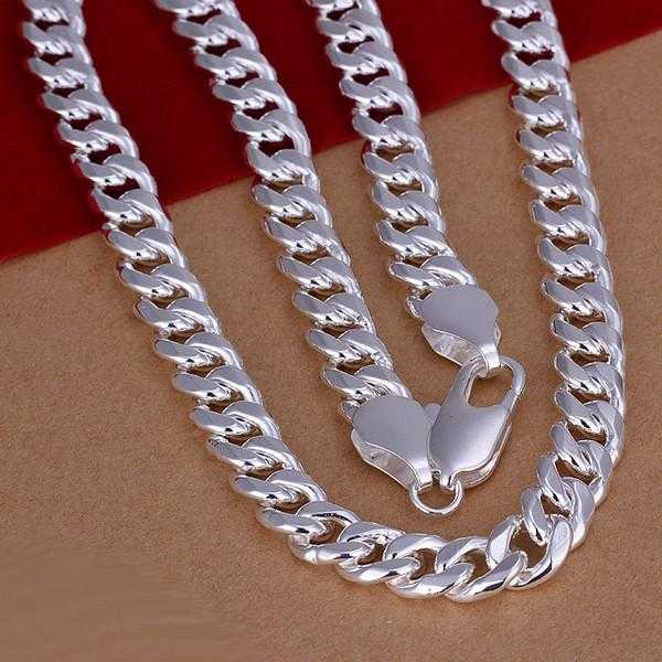 Free Sterling Silver Oblate Grain Twisted Chain Necklace-Necklace-Kirijewels.com-Kirijewels.com