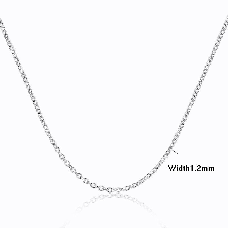 Cross Rolo Sterling Silver Chain Necklace-Chain Necklaces-Kirijewels.com-45cm-Silver-Kirijewels.com