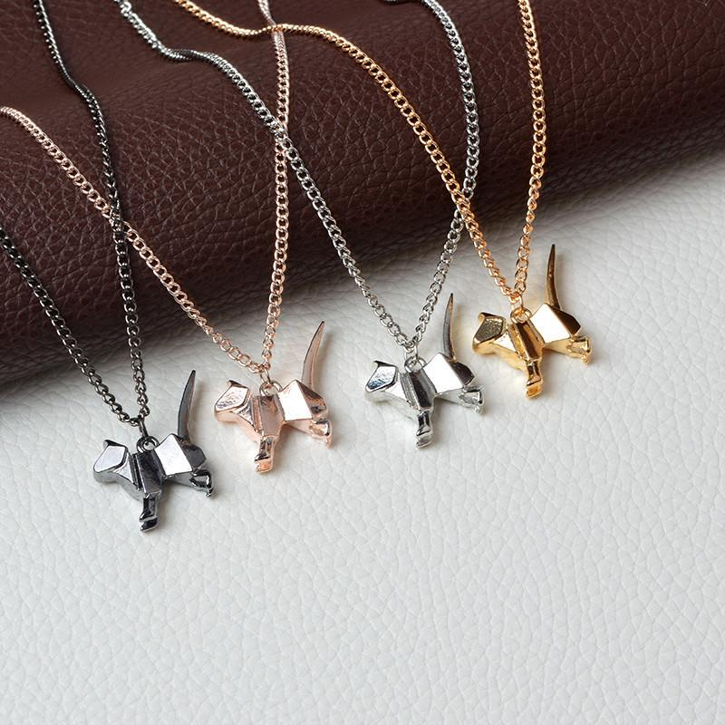 Cat Origami Pendant Necklace-Pendant Necklaces-Kirijewels.com-gold-Kirijewels.com