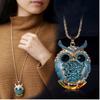 Free Diamond Owl Necklace-Necklace-Kirijewels.com-Blue-Kirijewels.com