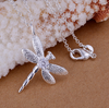 Silver Plated Dragonfly Pendant Necklace-Necklace-Kirijewels.com-Kirijewels.com