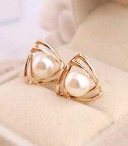 Temperament Imitation Pearl Earrings-Stud Earrings-Kirijewels.com-Kirijewels.com