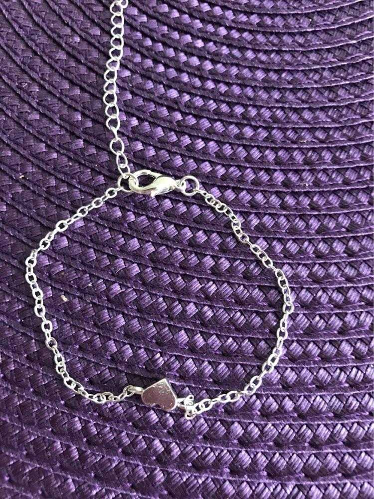 Silver Plated Valentine Heart Bracelet-Chain & Link Bracelets-Kirijewels.com-Silver Plated-Kirijewels.com