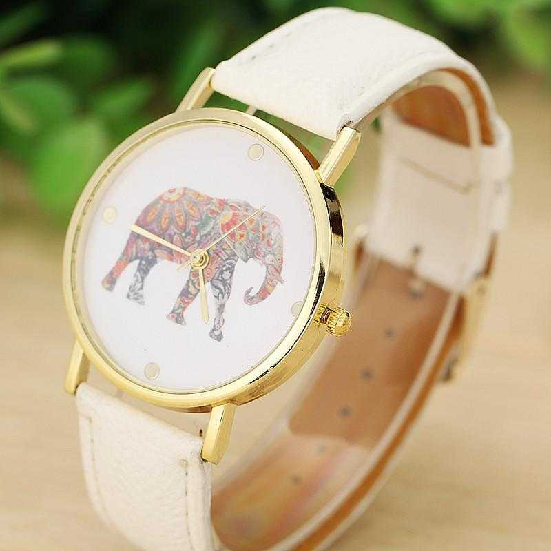 Elephant Watch-Watch-Kirijewels.com-White-Kirijewels.com
