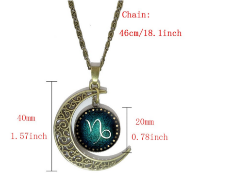 Free Constellation Pendant Necklace-Necklace-Kirijewels.com-Capricorn-Kirijewels.com