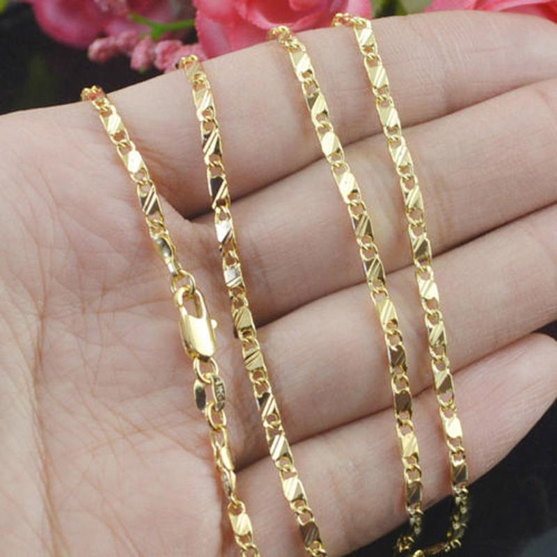 Slim Box Gold Plated Chain Necklace-Chain Necklaces-Kirijewels.com-20inch-Gold-Kirijewels.com