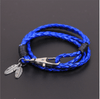 Leather Charm Friendship Feather Bracelet