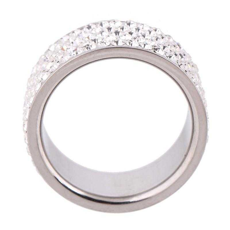 Full Finger Crystal Wedding Ring-Rings-Kirijewels.com-6-gold plated-Kirijewels.com
