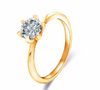 Free Twin Zircon Diamond Engagement Ring-Ring-Kirijewels.com-6-Gold-Kirijewels.com