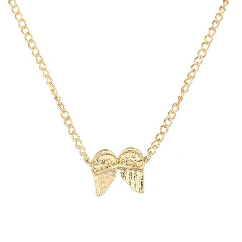 Gold Plated Guardian Angel Wings Necklace-Pendant Necklaces-Kirijewels.com-Gold-No Card-Kirijewels.com