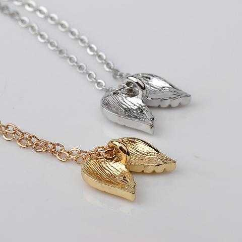 Free Gold Plated Guardian Angel Wings Necklace-Pendant Necklaces-Kirijewels.com-Gold-No Card-Kirijewels.com