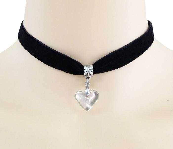 Free Crystal Heart Rope Necklace-Necklace-Kirijewels.com-black-Kirijewels.com