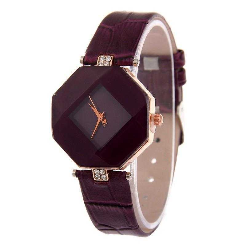 Trendy Leather Band Quartz Wrist watch-Women's Watches-Kirijewels.com-Purple-Kirijewels.com