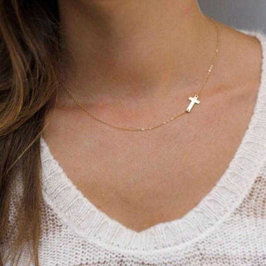 Cross Necklace-Necklace-Kirijewels.com-Gold Color-Kirijewels.com