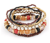 Multi Layer Beads Bracelet-Bracelet-Kirijewels.com-Brown-Kirijewels.com