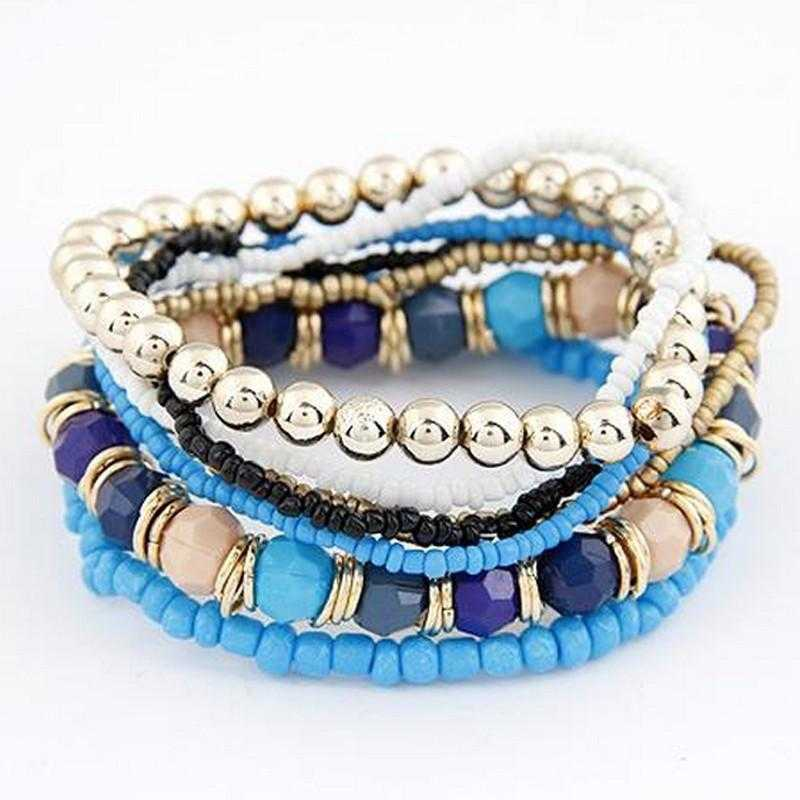 Multi Layer Beads Bracelet-Bracelet-Kirijewels.com-Blue-Kirijewels.com