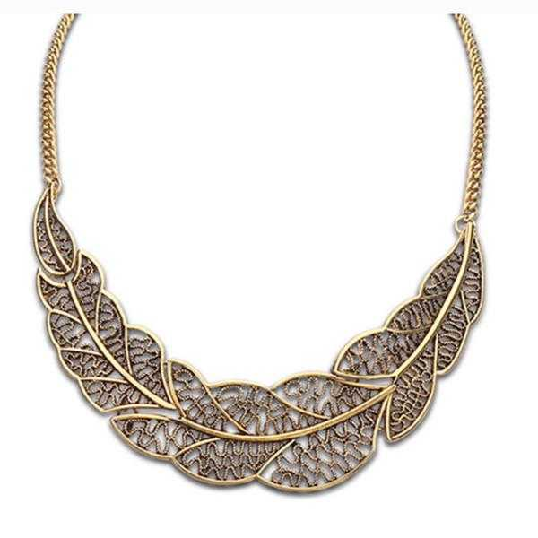 Aiffry Leaf Necklace-Necklace-Kirijewels.com-bronze-Kirijewels.com