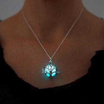 Tree Of Life Luminous Necklace-Necklace-Kirijewels.com-Green-Kirijewels.com