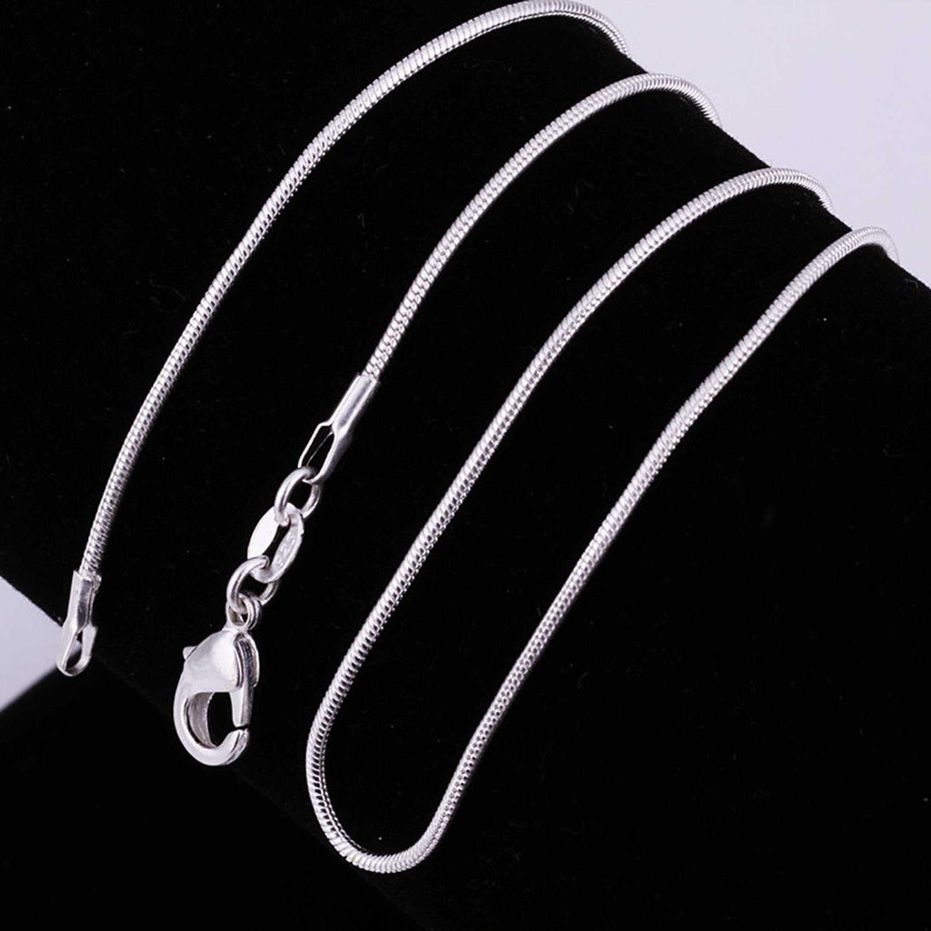 Lobster Clasp Silver Snake Chain Necklace-Necklace-Kirijewels.com-16 inch snake 1mm-Silver-Kirijewels.com