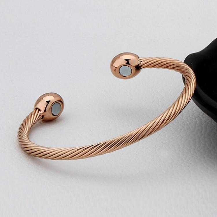 Magnetic Energy Healing Twisted Chain Bracelet-Bracelet-Kirijewels.com-Rose Gold Plated-Kirijewels.com