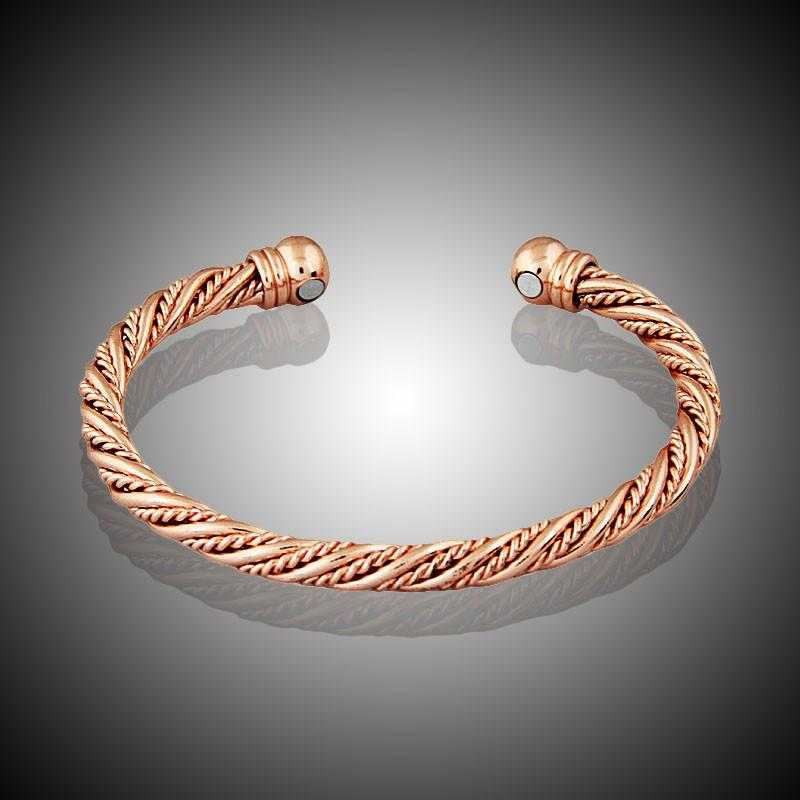 Magnetic Energy Healing Twisted Chain Bracelet-Bracelet-Kirijewels.com-Gold Color-Kirijewels.com