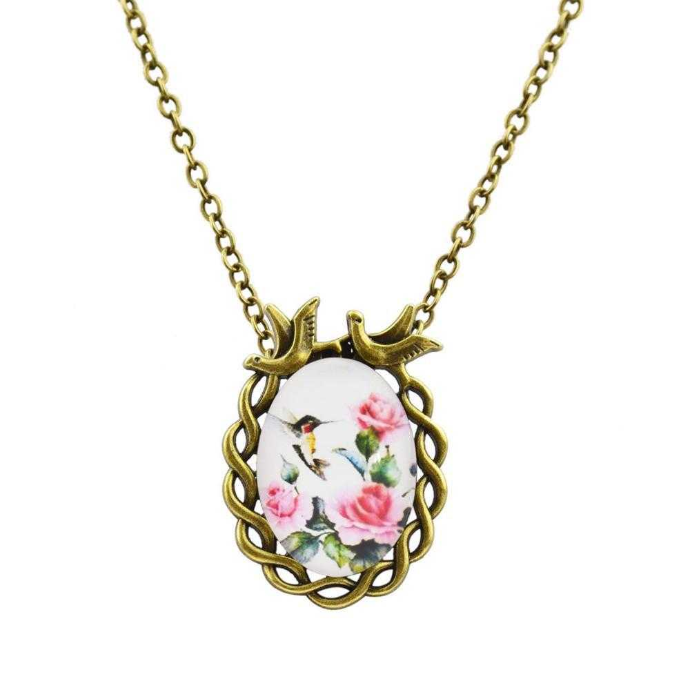 Oval Flower Necklace-Necklace-Kirijewels.com-S1-Kirijewels.com