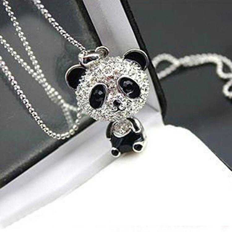 Giant Panda Necklace-Necklace-Kirijewels.com-Silver-Kirijewels.com