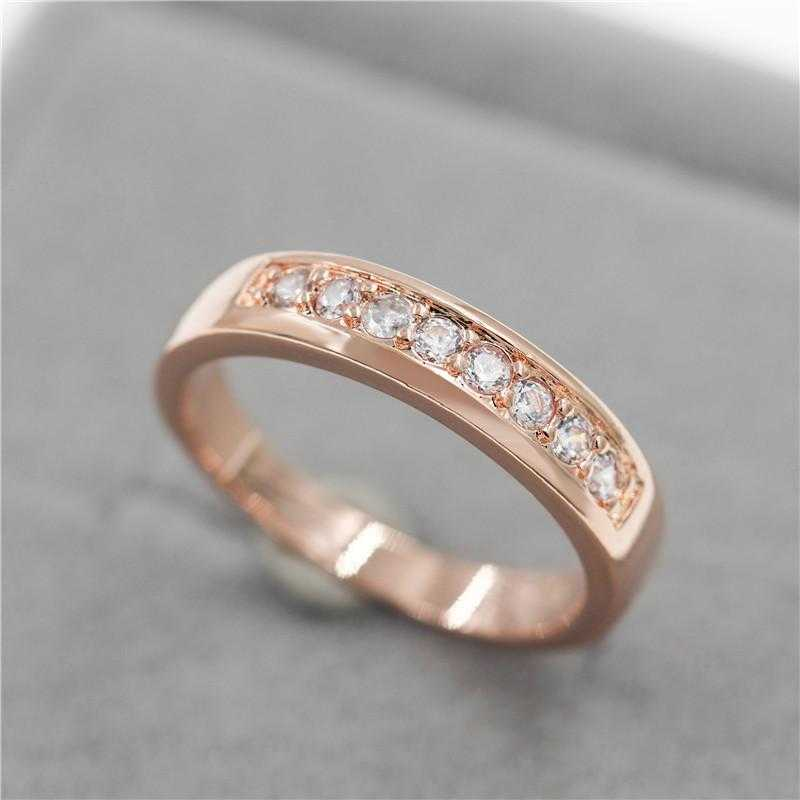 Three Times Platinum Plated Ring-Ring-Kirijewels.com-6-Rose Gold Color-Kirijewels.com