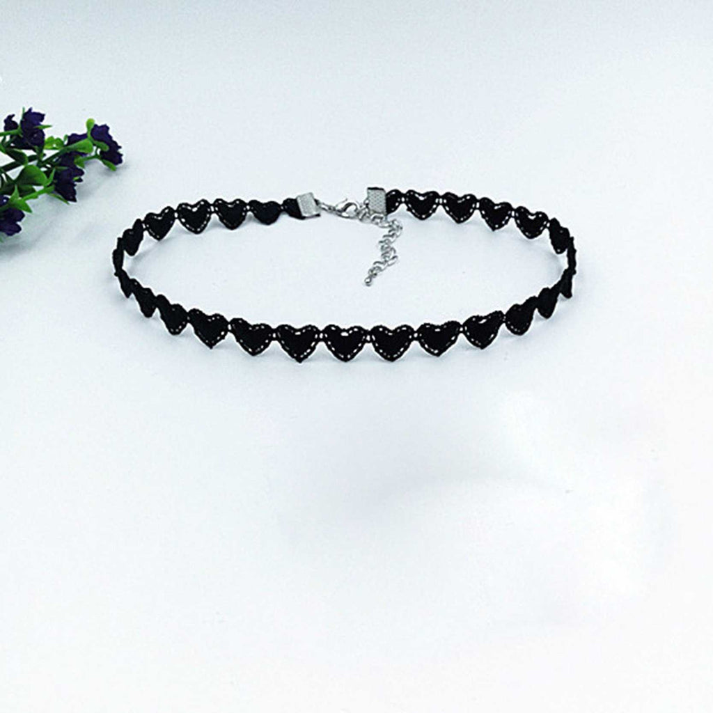 Polyester Love Choker Necklace-Necklace-Kirijewels.com-1-Black-Kirijewels.com