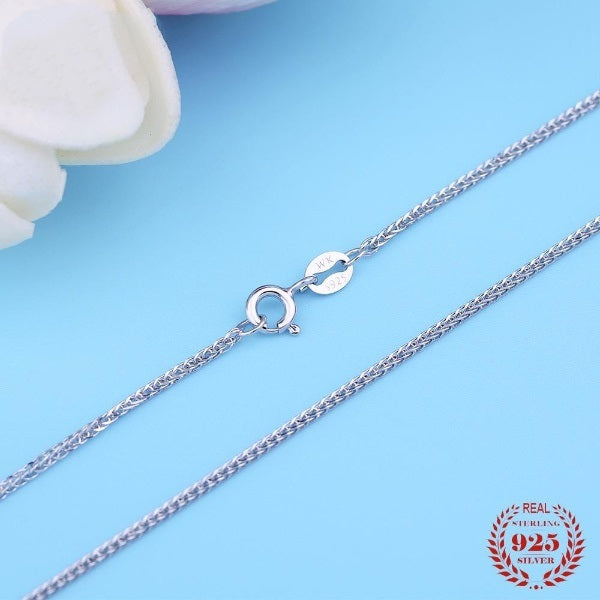 Belle Real Pure 925 Sterling Silver Chain Necklace