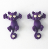 Free Cat Stud Earrings-earrings-Kirijewels.com-Purple-Kirijewels.com
