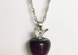Free Apple Necklace-Necklace-Kirijewels.com-Platinum Plated-Purple-Kirijewels.com