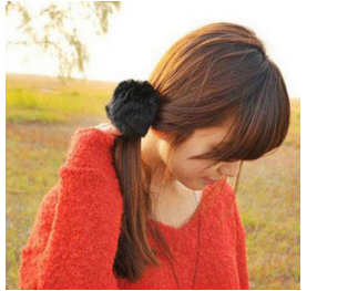 Rabbit Fur Hair Rope Band-Hair Accessories-Kirijewels.com-Black-Kirijewels.com
