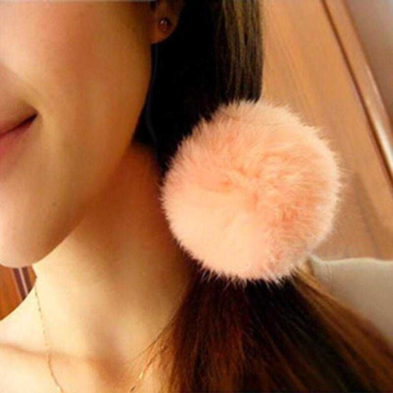 Rabbit Fur Hair Rope Band-Hair Accessories-Kirijewels.com-Light Brown-Kirijewels.com