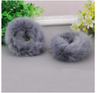 Rabbit Fur Hair Rope Band-Hair Accessories-Kirijewels.com-Dark Brown-Kirijewels.com