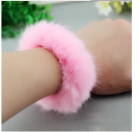Rabbit Fur Hair Rope Band-Hair Accessories-Kirijewels.com-Pink-Kirijewels.com