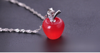 Free Apple Necklace-Necklace-Kirijewels.com-Platinum Plated-White-Kirijewels.com